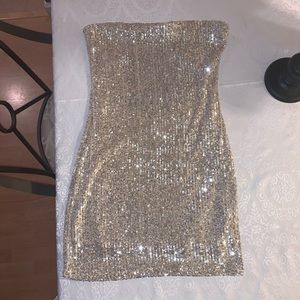 Silver Sequence dress